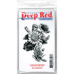 Deep Red Stamps - Cling Mounted Rubber Stamp - Xeranthemum