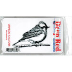 Deep Red Stamps - Cling Mounted Rubber Stamp - Vermilion Flycatcher