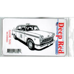 Deep Red Stamps - Cling Mounted Rubber Stamp - Classic Taxi