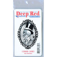 Deep Red Stamps - Cling Mounted Rubber Stamp - Cobweb Cameo