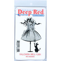 Deep Red Stamps - Cling Mounted Rubber Stamp - Halloween Dress Form