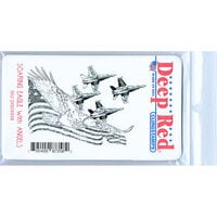 Deep Red Stamps - Cling Mounted Rubber Stamp - Soaring Eagle with Angels
