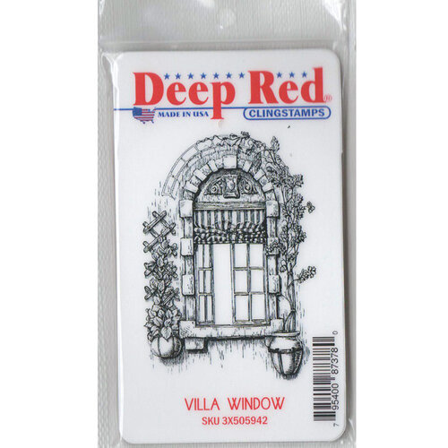 Deep Red Stamps - Cling Mounted Rubber Stamp - Villa Window