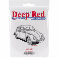 Deep Red Stamps - Cling Mounted Rubber Stamp - VW Bug