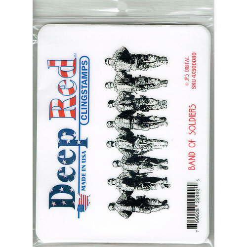 Deep Red Stamps - Cling Mounted Rubber Stamp - Band of Soldiers