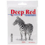 Deep Red Stamps - Cling Mounted Rubber Stamp - Zebra