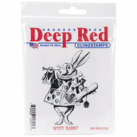 Deep Red Stamps - Cling Mounted Rubber Stamp - White Rabbit