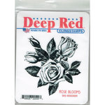 Deep Red Stamps - Cling Mounted Rubber Stamp - Rose Blooms