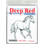 Deep Red Stamps - Cling Mounted Rubber Stamp - Wild Horse