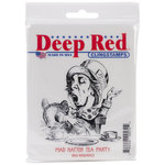 Deep Red Stamps - Cling Mounted Rubber Stamp - Mad Hatter Tea Party