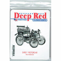 Deep Red Stamps - Cling Mounted Rubber Stamp - Early Motorcar
