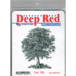 Deep Red Stamps - Cling Mounted Rubber Stamp - Oak Tree