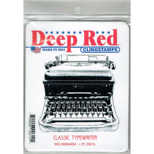 Deep Red Stamps - Cling Mounted Rubber Stamp - Classic Typewriter