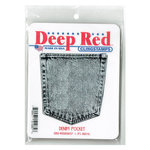 Deep Red Stamps - Cling Mounted Rubber Stamp - Denim Pocket