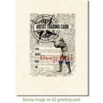 Deep Red Stamps - Cling Mounted Rubber Stamp - ATC Explorer