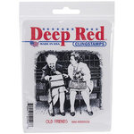 Deep Red Stamps - Cling Mounted Rubber Stamp - Old Friends