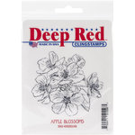 Deep Red Stamps - Cling Mounted Rubber Stamp - Apple Blossoms