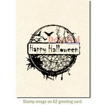 Deep Red Stamps - Cling Mounted Rubber Stamp - Happy Halloween