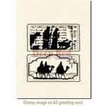 Deep Red Stamps - Christmas - Cling Mounted Rubber Stamp - Tickets to the Nativity