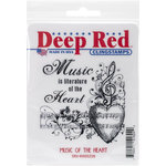 Deep Red Stamps - Cling Mounted Rubber Stamp - Music of the Heart