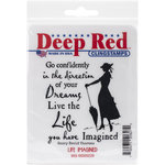 Deep Red Stamps - Cling Mounted Rubber Stamp - Life Imagined