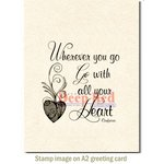 Deep Red Stamps - Cling Mounted Rubber Stamp - Wherever You Go