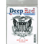 Deep Red Stamps - Cling Mounted Rubber Stamp - United We Stand