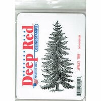Deep Red Stamps - Cling Mounted Rubber Stamp - Spruce Tree