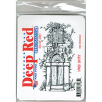 Deep Red Stamps - Cling Mounted Rubber Stamp - Vined Entry