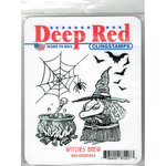 Deep Red Stamps - Halloween - Cling Mounted Rubber Stamp - Witches Brew