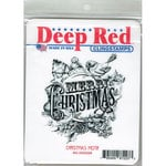 Deep Red Stamps - Christmas - Cling Mounted Rubber Stamp - Christmas Motif
