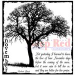 Deep Red Stamps - Cling Mounted Rubber Stamp - November Frost