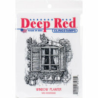Deep Red Stamps - Cling Mounted Rubber Stamp - Window Planter