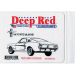 Deep Red Stamps - Cling Mounted Rubber Stamp - Mustang Fastback