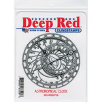 Deep Red Stamps - Cling Mounted Rubber Stamp - Astronomical Clock