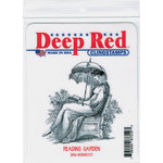 Deep Red Stamps - Cling Mounted Rubber Stamp - Reading Garden