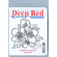 Deep Red Stamps - Cling Mounted Rubber Stamp - Magnolia Blossom