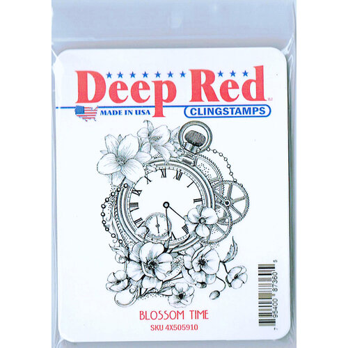 Deep Red Stamps - Cling Mounted Rubber Stamp - Blossom Time