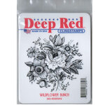 Deep Red Stamps - Cling Mounted Rubber Stamp - Wildflower Bunch