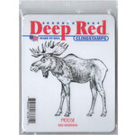 Deep Red Stamps - Cling Mounted Rubber Stamp - Moose