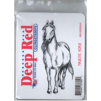 Deep Red Stamps - Cling Mounted Rubber Stamp - Majestic Horse