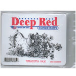 Deep Red Stamps - Cling Mounted Rubber Stamp - Terracotta Vase