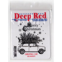 Deep Red Stamps - Cling Mounted Rubber Stamps - Christmas Car