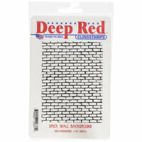 Deep Red Stamps - Cling Mounted Rubber Stamp - Brick Wall Background