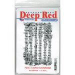 Deep Red Stamps - Cling Mounted Rubber Stamp - Music Flourish