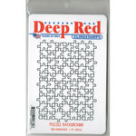 Deep Red Stamps - Cling Mounted Rubber Stamp - Puzzle Background