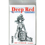 Deep Red Stamps - Cling Mounted Rubber Stamp - Derby Victorian Girl
