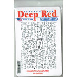 Deep Red Stamps - Cling Mounted Rubber Stamp - Quantum Background
