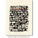 Deep Red Stamps - Cling Mounted Rubber Stamp - Stone Wall