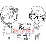 Deep Red Stamps - Cling Mounted Rubber Stamp - Little Cuties Thanks